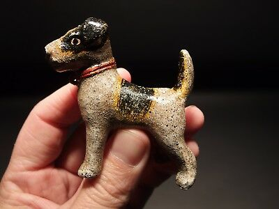Primitive Antique Style Cast Iron Terrier Dog