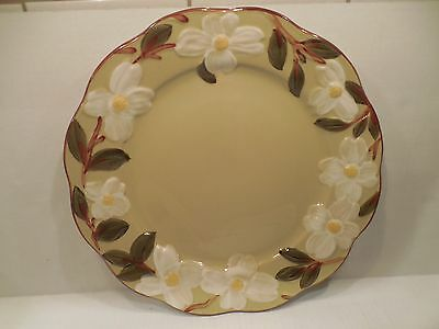 Stangl Pottery White Dogwood Large Round Serving Platter Plate Hand Painted