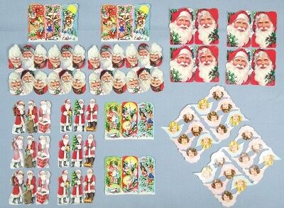 VINTAGE Christmas STICKERS Santa Clause ELVES Pixies ANGELS Made In ENGLAND