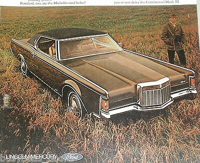 1970 Lincoln advertisement, Lincoln Continental Mark III