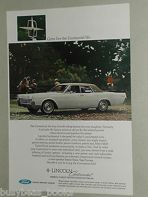 1967 LINCOLN CONTINENTAL advertisement x3,  2 & 4-door models, 1965 Lincoln too