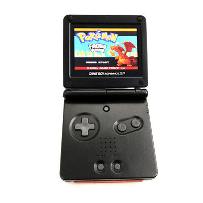 Black Game Boy Advance GBA SP Console AGS 101 Brighter Backlit LCD Console