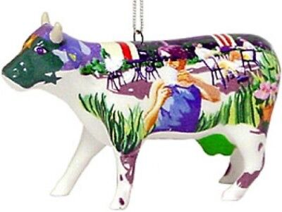 Cow Parade 2002 IT'S A COWPUCCINO MORNING ORNAMENT #7092 New & Hard to Find!