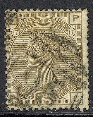Great Britain, Used, 70, Plate 17, Small Thin