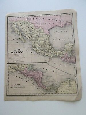 """1851 Smith's Atlas """"mexico Cen. America""""  Published By Cady & Burgess, N Y City"""