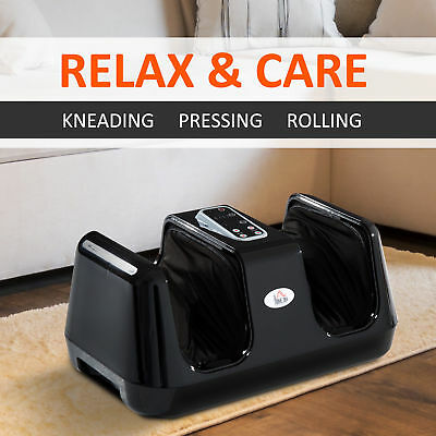 HOMCOM Foot Massager for Kneading Therapy of Legs Calves and Ankles - Black