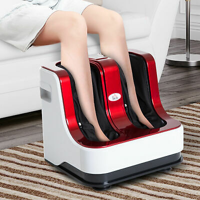 HOMCOM Heat Foot Massager for Kneading Therapy of Legs Calves and Ankles