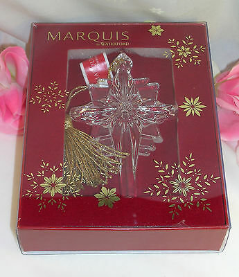 New Waterford Marquis Crystal 2014 Star Christmas Ornament Easter Communion Cros