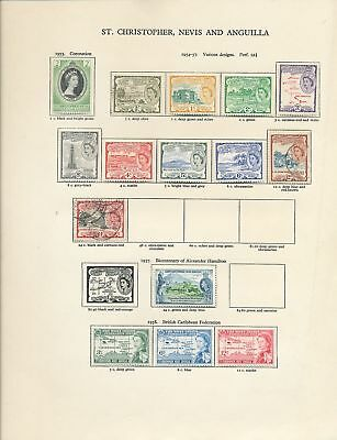 St Christopher Nevis Anguilla 1953/69 MH Used Wildlife Soccer 50+Items(Ag3565)