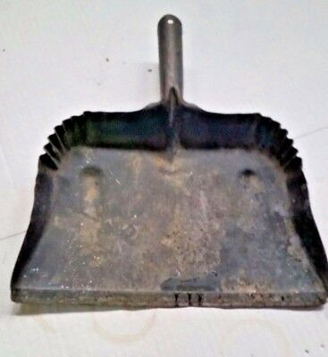 Vintage Large Black Metal Dust Pan Very Old