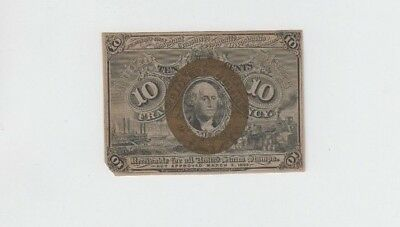 Fractional Currency Civil War Era Item one note vf missing corner tip