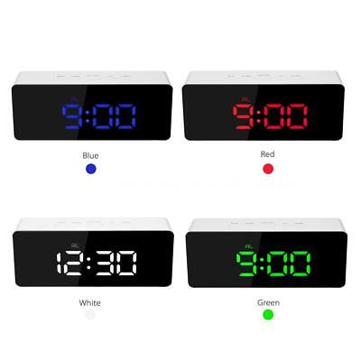 LED Mirror Clock USB & Battery Operated 12H/24H  Thermometer Alarm Clock U3P0