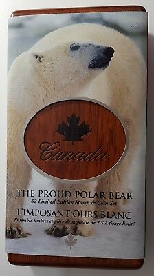 2004 Canada The Proud Polar Bear $2 Limited Edition Stamp & Coin Sterling Silver