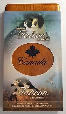 2006 Canada  Peregrine Falcon Limited Edition Stamp & Coin Set 9999 Silver