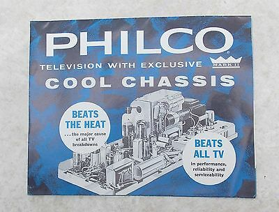 Vintage c. 1960 1961 PHILCO Cool Chassis Television Brochure Console Briefcase