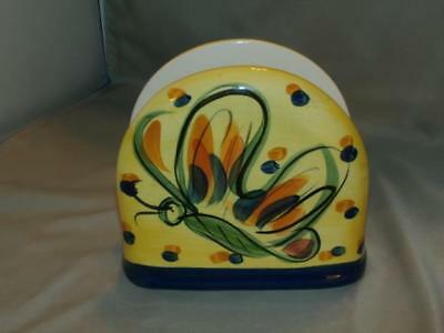 Southern Living at Home SLAH Gail Pittman Pottery Glory Napkin Holder Butterfly