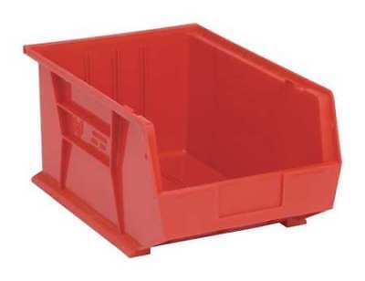 """Red Hang and Stack Bin, 16""""L x 11""""W x 8""""H QUANTUM STORAGE SYSTEMS QUS255RD"""