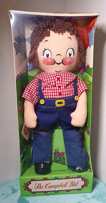 Campbell's The Campbell Kid ~ Boy ~ Rag Doll ~ New ~ Sealed ~ 1973 ~ Overalls