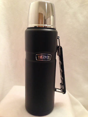 Thermos Stainless King 40 Ounce Beverage Bottle, Matte Black free shipping new