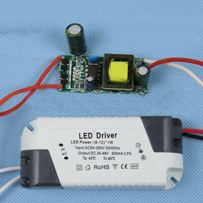AC-DC LED Driver Power Supply Transformer 1-3W 4-7W 8-12W 12-18W 300mA for Lamp