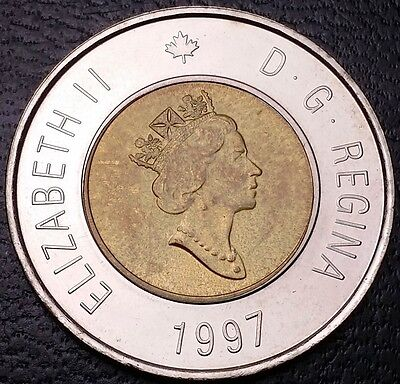 1997 Canada $2 Two Dollar Toonie ***Mint Condition Proof-Like*** Great Detail