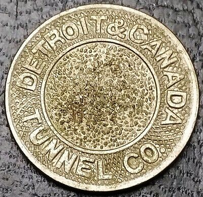 Vintage Detroit & Canada Tunnel Co. Transit Token - Good For One Fare