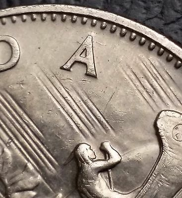 1969 Canada Nickel $1 One Dollar Coin **Die Cracks Around A** Free Combined S/H