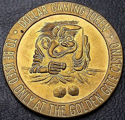Vintage Golden Gate Casino $1 Gaming Token -  Free Combined S/h