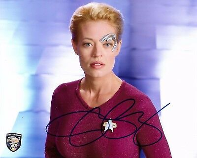 Star Trek - Jeri Ryan - Seven Of Nine - Genuine Hand Signed Opx Photograph