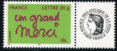 Timbre Personnalise N° 3761A **  Timbre De Message / Un Grand Merci / Logo Ceres