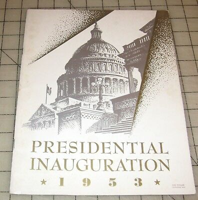 1953 DWIGHT D. EISENHOWER - NIXON Official Inauguration Program in VG Condition