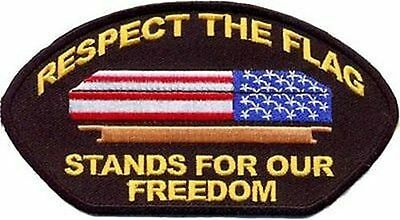 RESPECT THE FLAG STANDS FOR FREEDOM MC Club Quality Biker USA CAP Patch PAT-1524