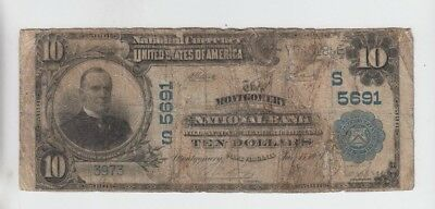 National Currency Montgomery West Virginia  $10 1902PB low grade