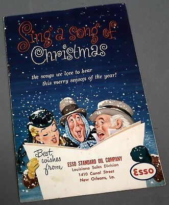 1953 Esso Standard Oil New Orleans Sing A Song Of Christmas Advertising Songbook