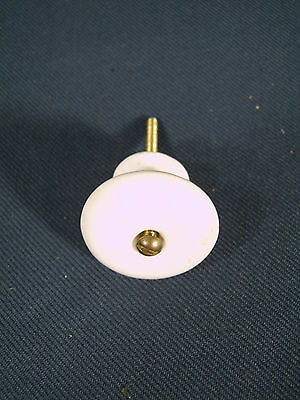 Vintage PAIR of VICTORIAN style WHITE PORCELAIN Drawer KNOBS (2) Two matching