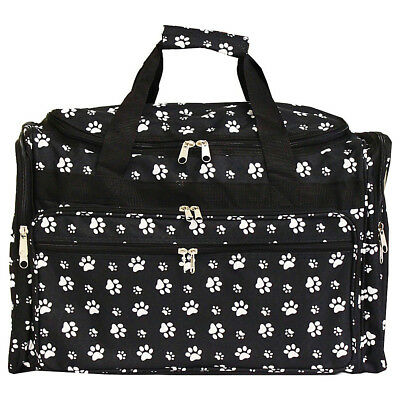 "World Traveler Paws 22"" Travel Duffle Bag 2 Colors Rolling Duffel NEW"