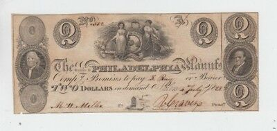 Obsolete Currency  Philadelphia Pa f-vf  very small piece missing