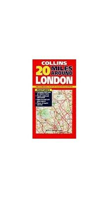 20 Miles Around London: 1 inch: 1 mile (Map) Sheet map Book The Fast Free