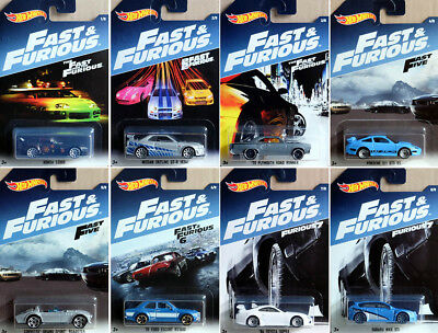 Fast and Furious Set (8 Modellautos) 1:64 Hot Wheels DWF68