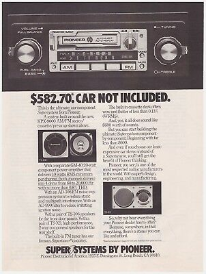 Original 1978 Pioneer Supersystem Car Radio Vintage Print Ad