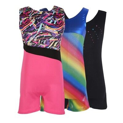 Baby Girls Gymnastics Leotards Kids Shiny Ballet Dance Wear Training Costume USA