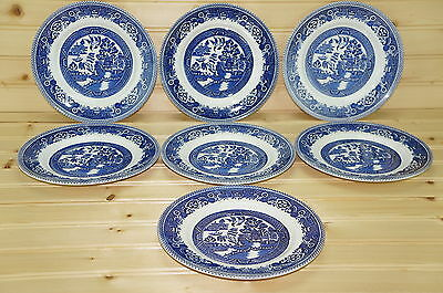 """Myott Old Willow Lot of (7) Dessert or Pie Plate, 7"""""""