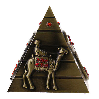 Vintage Metal Landmark Pyramid Figurine Model Architecture Statue Souvenir