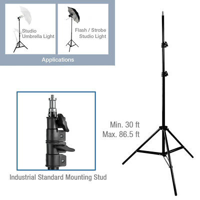 """Lusana Studio Continuous LightLighting Stand Photography 86"""" Tall Light Stand"""
