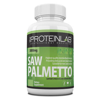 Saw Palmetto 3000mg Capsules Prostate and Urinary Tract Support Reduce Hair Loss