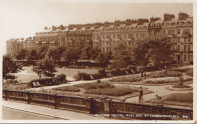 Warrior Square ST LEONARDS-ON-SEA East Sussex England Norman Real Photo Postcard