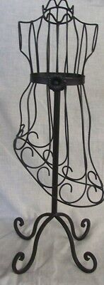 "Store Display Fixtures NEW BODY FORM JEWELRY DISPLAY 23"" tall Black Finish"