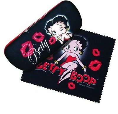Betty Boop Eyeglass Case with Cleaning Cloth - Red Dress/Kiss