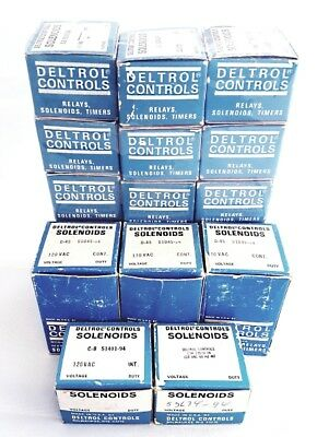 Assorted Lot of Vintage Deltrol Solenoids NOS (20 pieces)