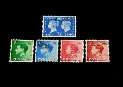 Great Britain, 1940, Assorted Singles, Used, Nice! Lqqk!